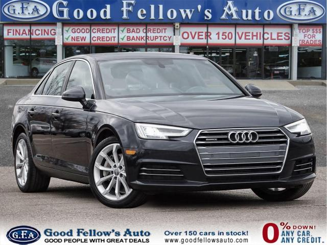 2017 Audi A4 PROGRESSIVE, QUATRO, LEATHER SEATS, SUNROOF, NAVI