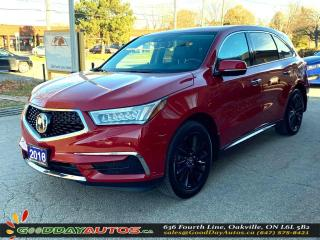 Used 2018 Acura MDX Tech|NO ACCIDENT|SINGLE OWNER|SUNROOF|CERTIFIED for sale in Oakville, ON