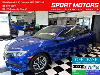 Used 2017 Honda Civic LX+Camera+Apple Carplay+Android Auto+AccidentFree for sale in London, ON