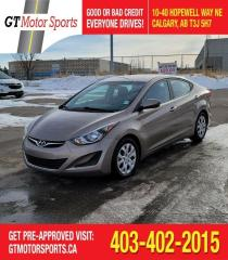 Used 2015 Hyundai Elantra GL | $0 DOWN - EVERYONE APPROVED! for sale in Calgary, AB