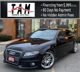 Used 2012 Audi A4 2.0T Sedan Quattro S-Line Sunroof Leather Heated Seats 6-Speed Manual for sale in North York, ON