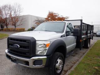 Used 2012 Ford F-550 Flat Deck 16 foot Regular Cab Dually 2WD Power Tailgate for sale in Burnaby, BC