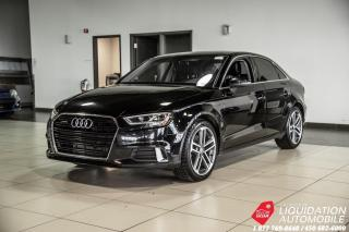 Used 2017 Audi A3 2.0T Technik AWD+TOIT+NAV+CUIR+MAGS 18 POUCE for sale in Laval, QC