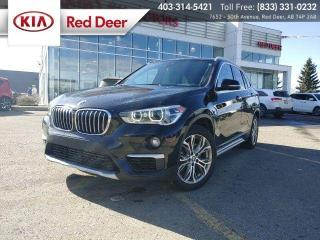 Used 2019 BMW X1 xDrive 28i AWD 2.0L Turbo, Panoramic Sunroof, Navigation, Heated for sale in Red Deer, AB