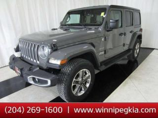 Used 2020 Jeep Wrangler Unlimited Sahara *Collision Free, Always Owned In MB!* for sale in Winnipeg, MB