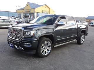 Used 2017 GMC Sierra 1500 Denali CrewCab 6.2L 4x4 5.5ft Box Roof Nav Leather for sale in Brantford, ON