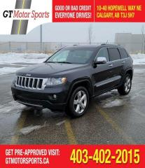 Used 2012 Jeep Grand Cherokee Overland  | $0 DOWN - EVERYONE APPROVED! for sale in Calgary, AB