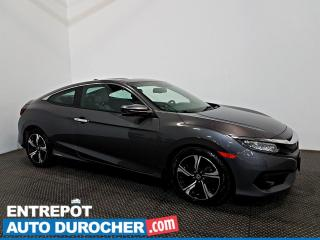 Used 2016 Honda Civic COUPE Touring NAVIGATION - Toit Ouvrant - A/C - CUIR for sale in Laval, QC