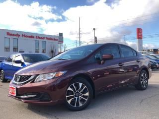 Used 2015 Honda Civic Sedan EX Alloy - Sunroof - Rear camera for sale in Mississauga, ON