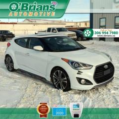 Used 2017 Hyundai Veloster Turbo - Accident Free! w/Navigation , Leather, Heated Seats, Bac for sale in Saskatoon, SK