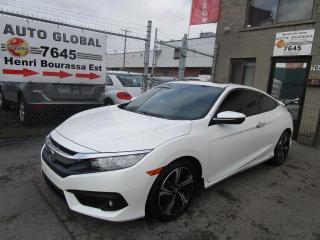 Used 2017 Honda Civic Touring 2 portes CVT for sale in Montréal, QC
