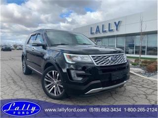 Used 2017 Ford Explorer Platinum, One Owner, Mint, Loaded!! for sale in Tilbury, ON
