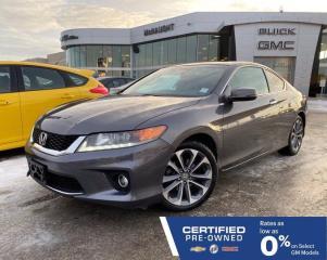 Used 2013 Honda Accord Cpe EX-L V6 w/Navi FWD | 6 Speed Manual | Sunroof for sale in Winnipeg, MB