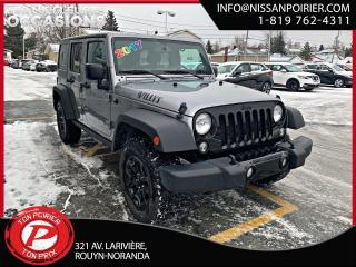 Used 2017 Jeep Wrangler Willys Wheeler RARE for sale in Rouyn-Noranda, QC