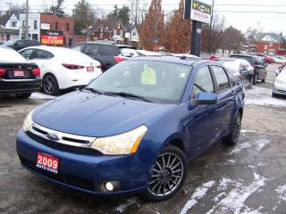 Used 2009 Ford Focus SES,BLUETOOTH,LEATHER,SUNROOF,CERTIFIED,FOG LIGHTS for sale in Kitchener, ON