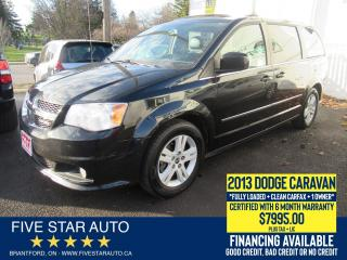 Used 2013 Dodge Grand Caravan Crew Plus *Clean Carfax + 1 Owner* CERTIFIED for sale in Brantford, ON