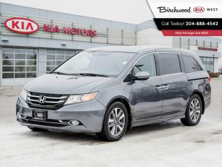 Used 2017 Honda Odyssey Touring CLEAN CARFAX | LOADED for sale in Winnipeg, MB