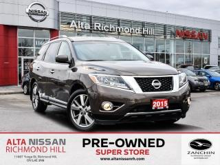 Used 2015 Nissan Pathfinder Platinum   360 CAM   BSW    Bose   Headset DVD for sale in Richmond Hill, ON