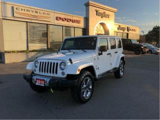 Used 2016 Jeep Wrangler Unlimited Sahara 4x4 V6 w/Leather, Navi, Remote Start, Bluet for sale in Hamilton, ON