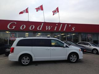 Used 2020 Dodge Grand Caravan CREW! CLEAN CARFAX! HEATED LEATHER! DVD! BT! CAM! for sale in Aylmer, ON