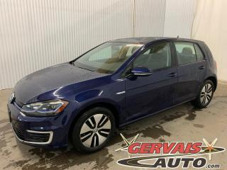 Used 2020 Volkswagen Golf e-Golf Comfortline Cuir Mags Caméra Véhicule neuf for sale in Shawinigan, QC