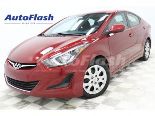 Used 2016 Hyundai Elantra GL* BLUETOOTH* CRUISE* EXTRA-CLEAN for sale in St-Hubert, QC