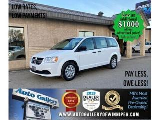 Used 2019 Dodge Grand Caravan CVP* AT/B. Cam/Keyless entry/Low Kms! for sale in Winnipeg, MB