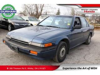 Used 1987 Honda Accord Sedan 4dr LXI for sale in Whitby, ON