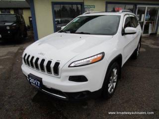 Used 2017 Jeep Cherokee LOADED LIMITED EDITION 5 PASSENGER 3.2L - V6.. 4X4 SYSTEM.. SELEC-TERRAIN PACKAGE.. LEATHER.. HEATED/AC SEATS.. NAVIGATION.. BACK-UP CAMERA.. for sale in Bradford, ON