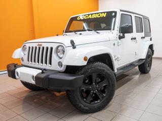 Used 2016 Jeep Wrangler SAHARA 4X4 ÉCRAN TACTILE NAV SIÈGES CHAUF *BAS KM* for sale in Mirabel, QC