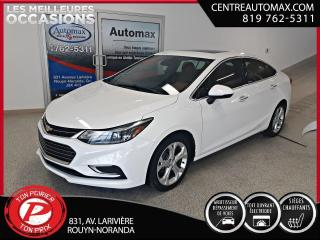 Used 2017 Chevrolet Cruze Premier ( frais vip 395$ non inclus) for sale in Rouyn-Noranda, QC