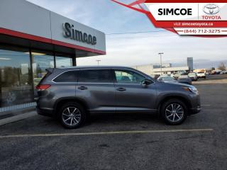 Used 2018 Toyota Highlander XLE AWD  - Certified - Navigation - $274 B/W for sale in Simcoe, ON