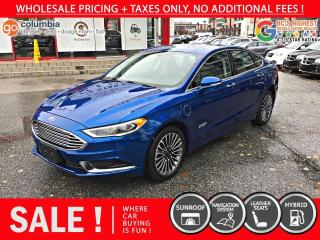 Used 2018 Ford Fusion Energi Energi SE - Nav / Sunroof / Leather / No Dealer Fees for sale in Richmond, BC