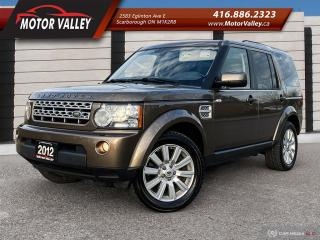Used 2012 Land Rover LR4 4WD V8 HSE LUX Navigation / Pan Roof / Camera Mint for sale in Scarborough, ON