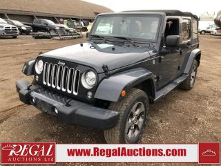 Used 2017 Jeep Wrangler Unlimited Sahara 4D Utility 4WD 3.6L for sale in Calgary, AB