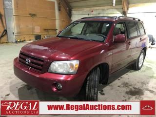 Used 2005 Toyota Highlander Limited 4D Utility 4WD for sale in Calgary, AB