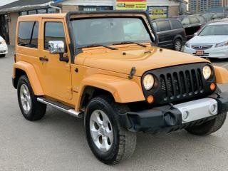 Used 2013 Jeep Wrangler 4WD 2DR Sahara / ONE YEAR WARRANTY INCULDED for sale in Brampton, ON