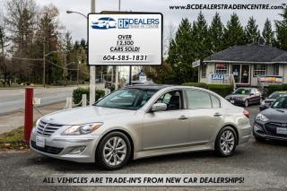 Used 2013 Hyundai Genesis Sedan V6, Local, No Declarations, Leather, Sunroof, Reverse Cam! for sale in Surrey, BC
