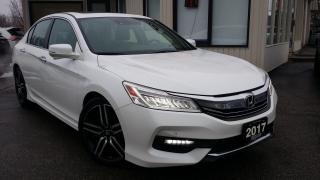 Used 2017 Honda Accord TOURING - LEATHER! NAV! BACK-UP CAM! CAR PLAY! REMOTE START! for sale in Kitchener, ON
