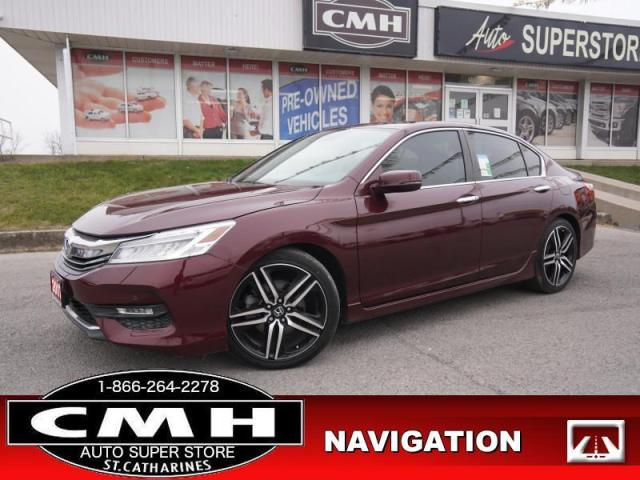 2017 Honda Accord Sedan Touring  NAV CAM ROOF LEATH LANE-KEEP