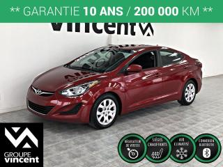 Used 2015 Hyundai Elantra GL ** GARANTIE 10 ANS ** Confortable, fiable et sécuritaire! for sale in Shawinigan, QC