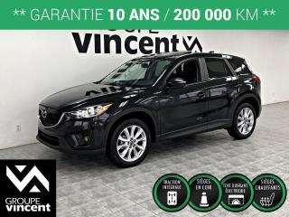Used 2015 Mazda CX-5 GT AWD GPS CUIR TOIT ** GARANTIE 10 ANS ** La version tout équipé! for sale in Shawinigan, QC