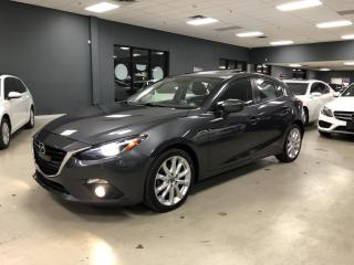 Used 2015 Mazda MAZDA3 GT*NAVIGATION*HEADS-UP DISPLAY*BOSE*SUNROOF*CERTIF for sale in North York, ON