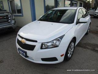Used 2014 Chevrolet Cruze GREAT KM'S & VALUE LT EDITION 5 PASSENGER 1.4L - TURBO.. CD/AUX/USB INPUT.. KEYLESS ENTRY.. for sale in Bradford, ON