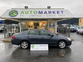 Used 2006 Honda Accord SE IN-HOUSE FINANCE IT! NO CREDIT REQ. FREE BCAA MBRSHP & WRNTY! for sale in Langley, BC