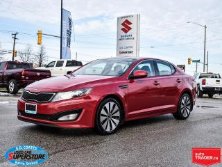 Used 2013 Kia Optima SX ~Nav ~Cam ~Heated Leather ~Panoramic Moonroof for sale in Barrie, ON
