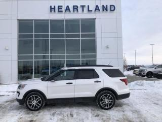 Used 2018 Ford Explorer Sport NAVIGATION | LEATHER | AWD | PANORAMIC SUNROOF | REMOTE START- USED EDMONTON FORD DEALER for sale in Fort Saskatchewan, AB