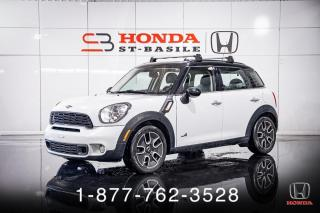 Used 2012 MINI Cooper Countryman S + ALL4 + AWD + CUIR + TOIT + WOW! for sale in St-Basile-le-Grand, QC