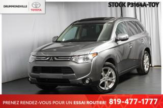 Used 2014 Mitsubishi Outlander GT *V6 INTÉGRALE* (7 PASSAGERS+CUIR+XENON) for sale in Drummondville, QC
