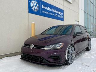 Used 2018 Volkswagen Golf R VIOLET PEARL! SUPER RARE - AFTERMARKET EXHAUST for sale in Edmonton, AB